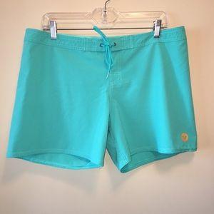 Roxy Teal Board Shorts - Size XL